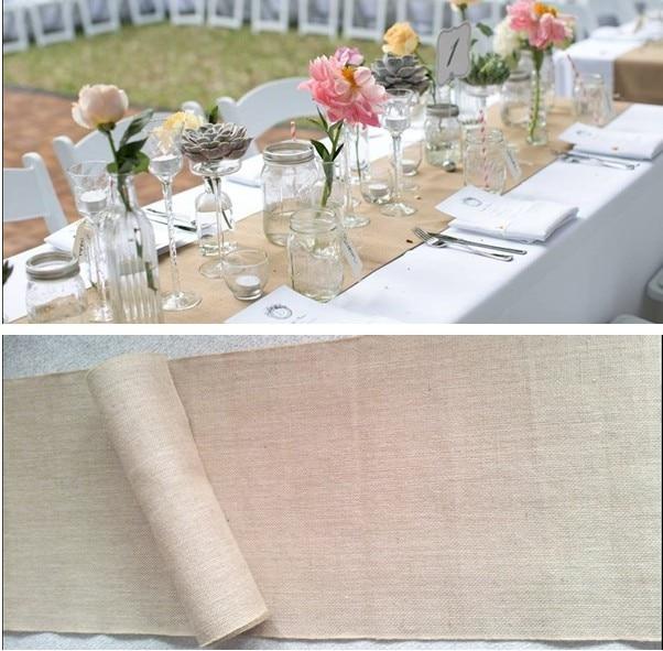 35 CM X 10 metros Shabby Chic Jute naturel Jute ruban de mariage chemin de  Table   toile de Jute hesse chemin de Table millésime pour la décoration  parti ... 9cc351fff61