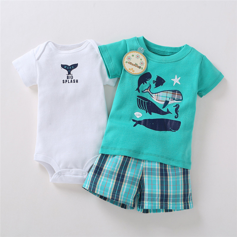 Baby Clothing Set Children's Romper Set For Boys Kids Newborn T shirt and Short Summer Children Clothing Babies Jumpsuits 2017 baby romper girl and boy short sleeve monkey print summer clothing for newborn next jumpsuits