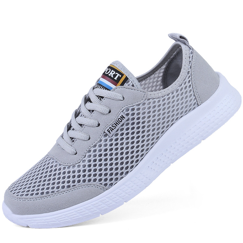 2019 New Arrival Free Shipping Couple Big Hole Mesh Sneakers Men Women Light Breathable Running Shoes Size 52 53 54 Sport Shoes