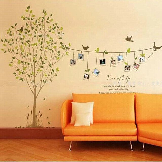 wrap three generations living room bedroom creative combination photo frame wall sticker affixed to the natural