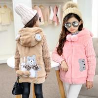 Girls Coats Winter Thicking Warm outwear Cotton Children Clothing Kids Clothes Jackets Girls brushed keep cotton padded jacket