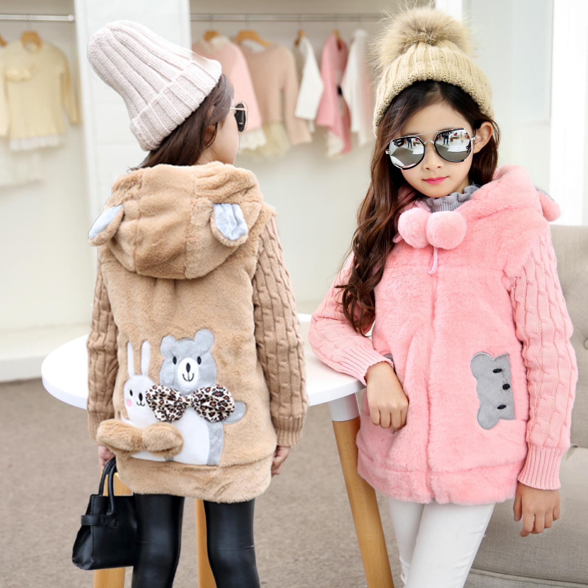 Girls Coats Winter Thicking Warm outwear Cotton Children Clothing Kids Clothes Jackets Girls brushed keep cotton-padded jacket 2014 winter mens jackets and coats casaco masculino male warm thick cotton padded high quality hot sale outwear clothes s636