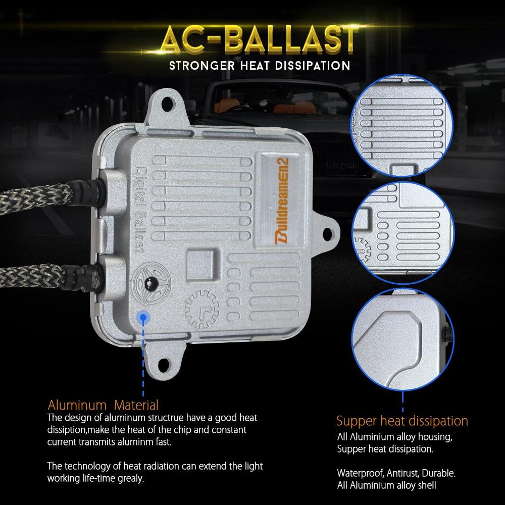 Buildreamen2 H4 Mini Projektor Objektiv Hallo/Lo Bi Xenon HID Xenon Kit AC Ballast Auto Scheinwerfer High Low strahl 55 W 4300 K 6000 K 8000 K - 4