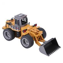 1520 1:16 6CH RC Excavator Digger Alloy Remote Control Toy Vehicle with USB Cable High Imitation Light RC Vehicle Boys' Toy