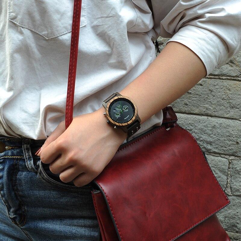 Image 2 - BOBO BIRD женские часы, Роскошные Кварцевые часы с хронографом и датой, роскошные Универсальные женские деревянные часы с логотипом, Прямая поставкаwatch forwatch for womenwatch luxury -