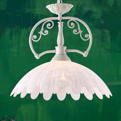 European exquisite pure white glass Pendant Lights Quaint classical minimalist lamp for parlor&porch&stairs&pavilion ZLDD054