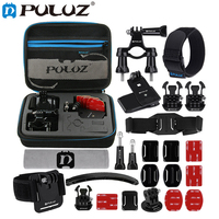 PULUZ 24 in 1 Bike Mount Accessories Combo Kit for GoPro HERO6 5 4 Session 4 3 + 3 for Xiaoyi 4k Action Camera for EKEN H9R