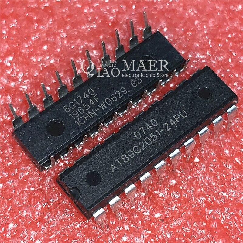 10PCS IC AT89C2051-24PU MICROCONTROLLER ATMEL DIP-20 HIGH QUALITY