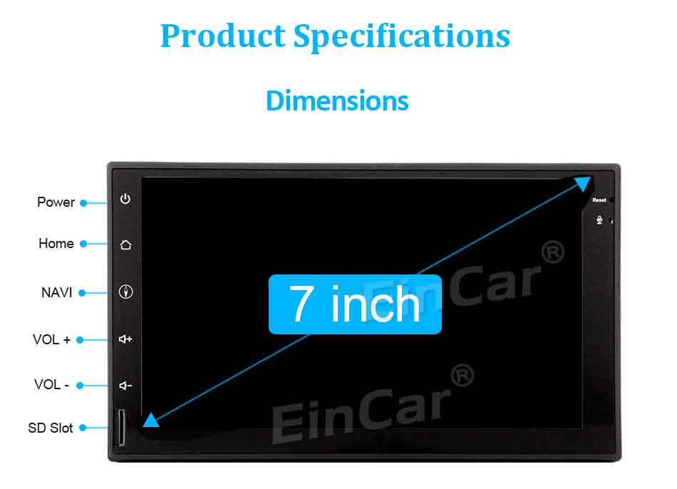 Android 7.1 Car Stereo 2Din Head Unit Support Radio Bluetooth Video Player Wifi/3g/4g GPS Navigator Map Dual Cam-in SWC 1080p