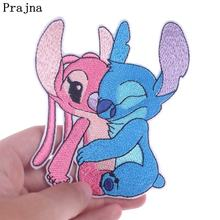 Prajna DIY Couple Stitch Character Patch Iron On Patches For Clothing Embroidered Clothes Jacket Badges Stickers