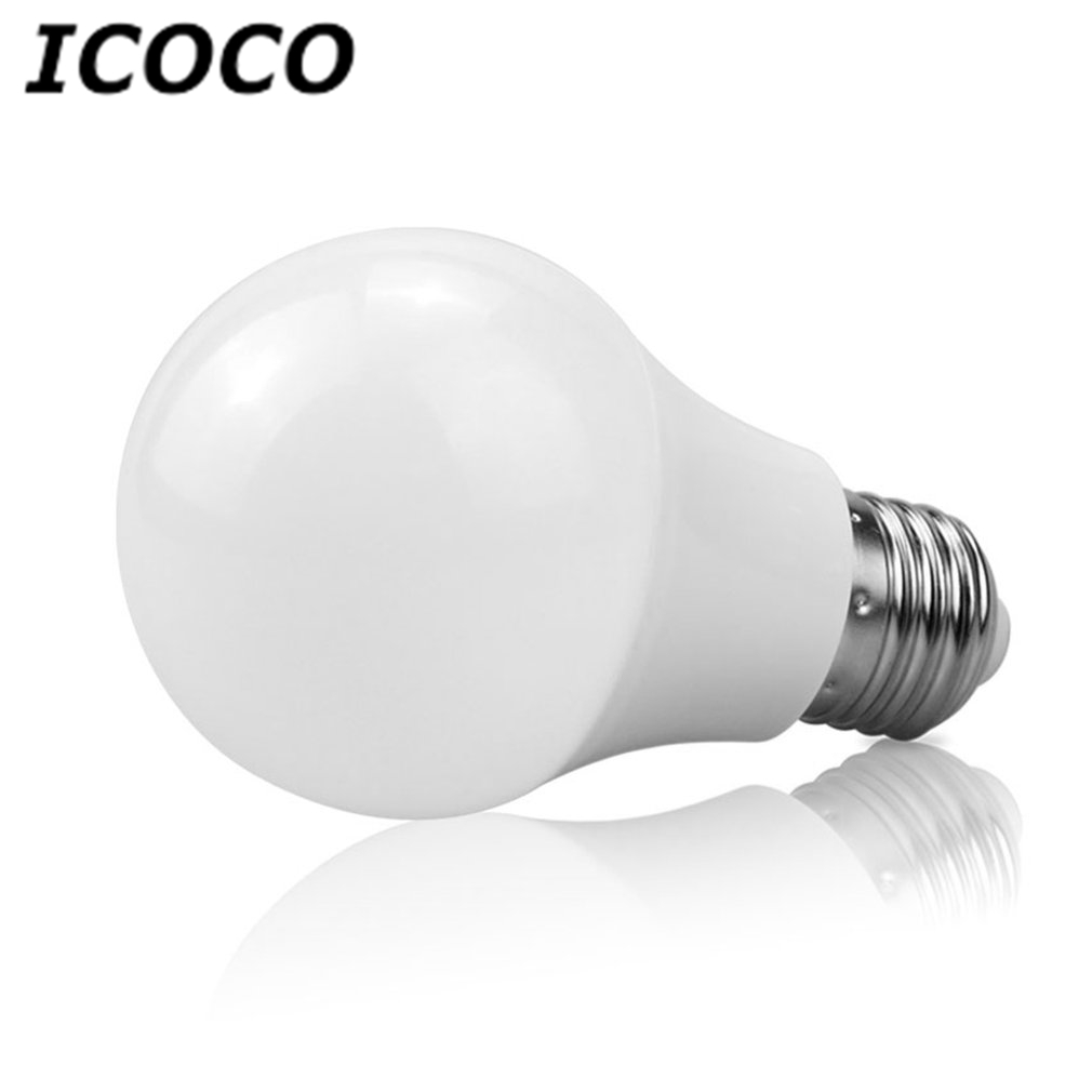 ICOCO Magic E27 Rgbw LED Bulb Night Light Bluetooth Control Smart Lamp Colorful Dimmable Bulb for Home Store Decor Drop Ship icoco e27 smart bluetooth led light multicolor dimmer bulb lamp for ios for android system remote control anti interference hot