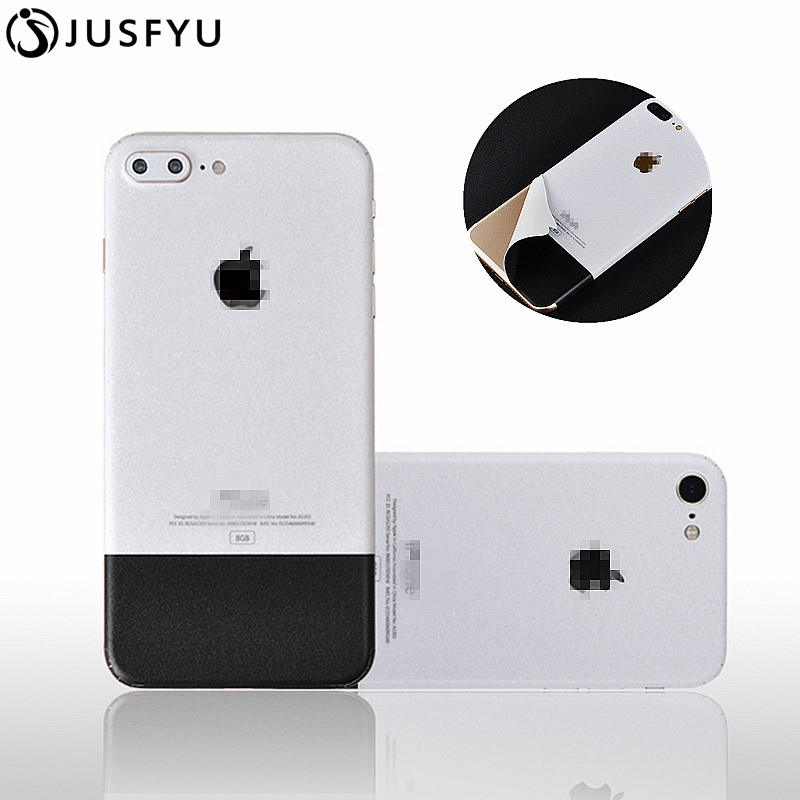best website 162fb 57f09 US $1.19 17% OFF Luxury Film Wrap Decal Skin Case Cover PVC Sticker For  iPhone 6 6S 7 8 Plus X Black and White Back Film Thin Screen Protector -in  ...
