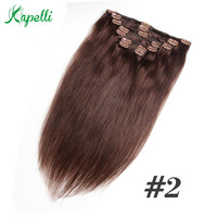 Honey Blonde Remy Straight Clip In Human Hair Extensions 120G 100% Human Hair Clips In Extension Ombre Brown Natural Color