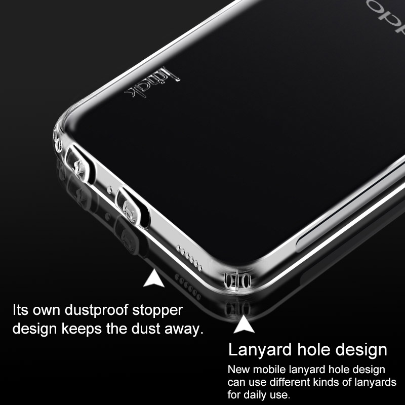 OPPO R17 Case Silicone Super Clear Soft TPU Airbag Back Cover For OPPO R17  Pro Phone Cases Gift Screen Protector