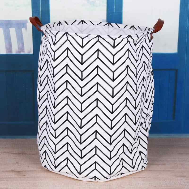 Falten Picknick Warenkorb Ständer Wäsche Korb Spielzeug Lagerung Box Super Große Tasche Baumwolle Waschen Schmutzige Kleidung Großen Korb Veranstalter
