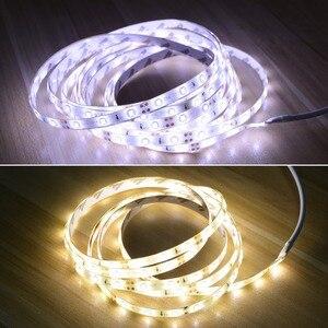 Image 5 - AIMENGTE DC12V LED bande capteur de mouvement lumière Auto marche/arrêt Flexible LED bande 1M 2M 3M 4M 5M SMD2835 lit lumineux avec alimentation
