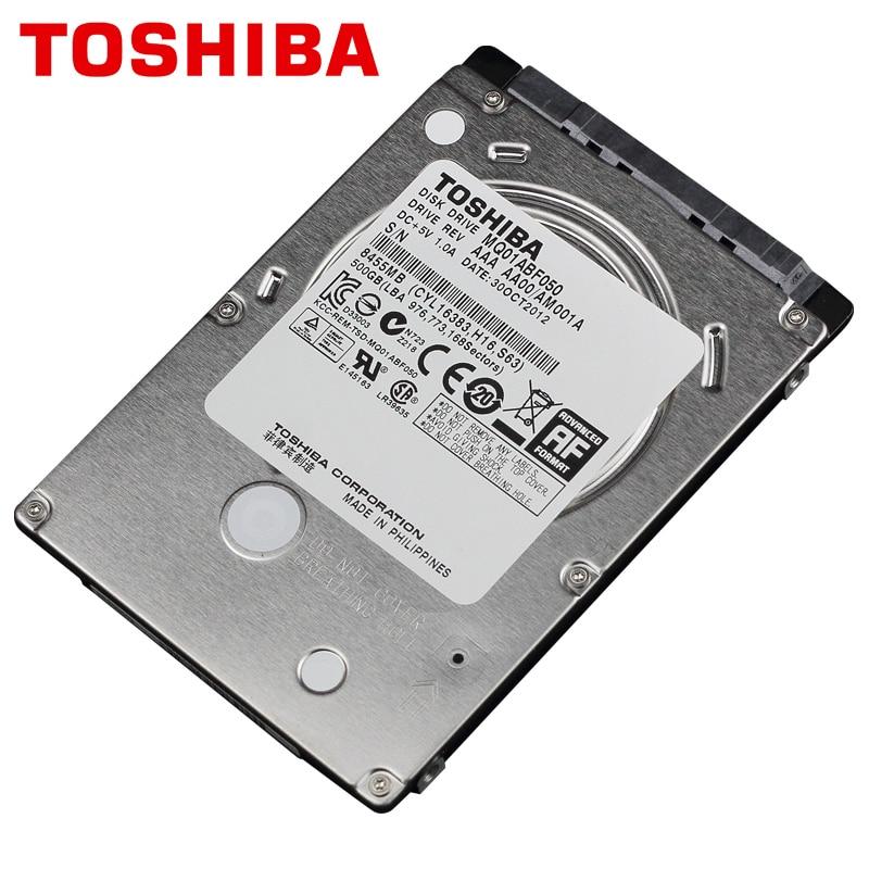 TOSHIBA Laptop Hard Drive Disk 500GB 500G Internal HDD HD 2.5 5400 RPM 8M Cache 7mm SATA 2 MQ01ABF050 Original New for Notebook hgst travelstar z5k500 hts545050a7e380 500gb 5400 rpm 8mb cache sata 3 0gb s 2 5 internal notebook hard drive bare drive