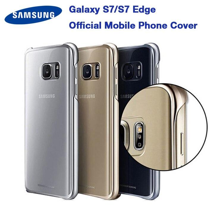 Original SAMSUNG Transparent Schutzhülle Telefon Abdeckung GALAXY S7 rand G9350 G9300 G930A G935F Ultra Slim Schutz Zurück Fall