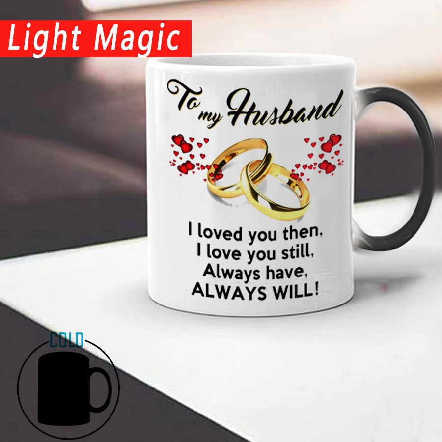 Wedding Anniversary Gift.Us 10 55 16 Off To My Wife Or Husband Wedding Anniversary Gift Mug Color Changed Coffee Mugs Cup Best Gift For Your Honey Drop Shipping In Mugs From
