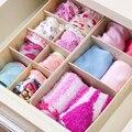 Underwear Storage Acrylic Makeup Organizer Double Separate Adjustable Case Box
