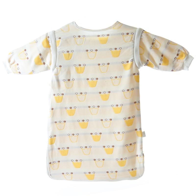 Дети мальчик девочка спальный мешок муслина 6 слоев марли хлопка удобные детские сна Sack милый мультфильм съемные рукава sleepware