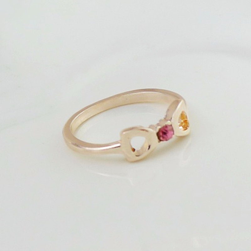 R223 2016 New!Latest Fashion Luxurious Atmosphere Imitation Diamond Bow Ring Double-D Modeling Jewelry Factory Direct Ювелирное изделие