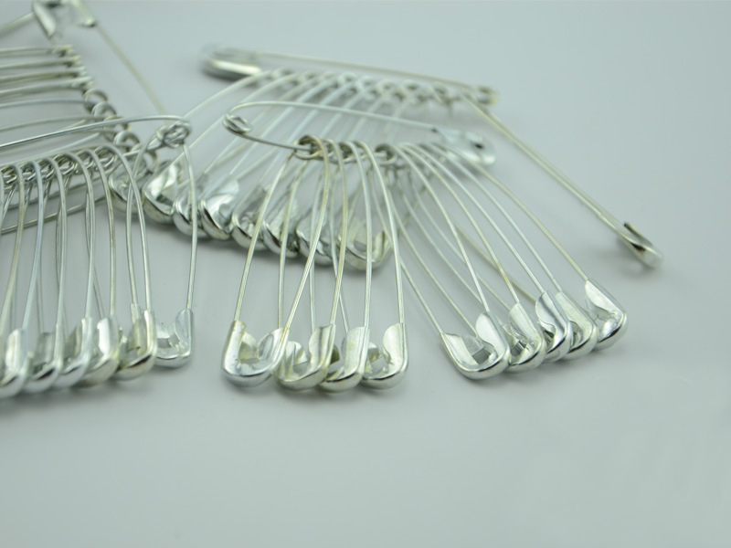 200pcs 55mm plated silver/gold safety pins pins needles hijab pin for hair/wedding/head/bridal diy accessories large findings