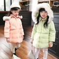 2016 детская одежда девочка зимнее пальто утолщение хлопка новорожденного ребенка пальто куртки для девочек младенческой ребенок куртка с капот