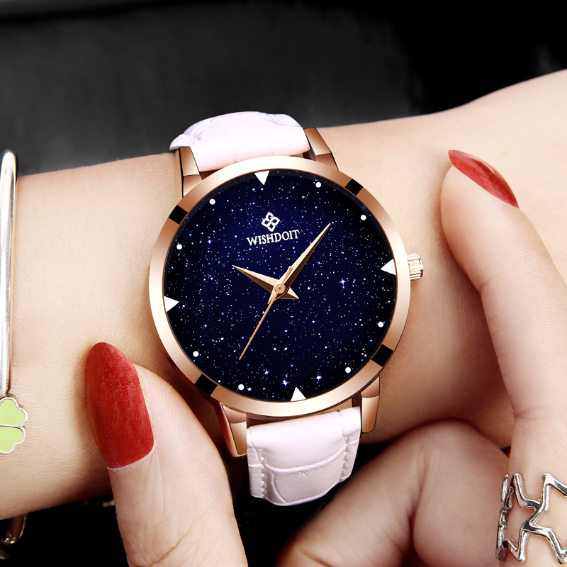 WISHODIT 2018 women watches Fashion dress ladies Watch women Leather Quartz  Wrist Watch Relogio feminino girl Clock Montre Femme 1ba8bf1c3