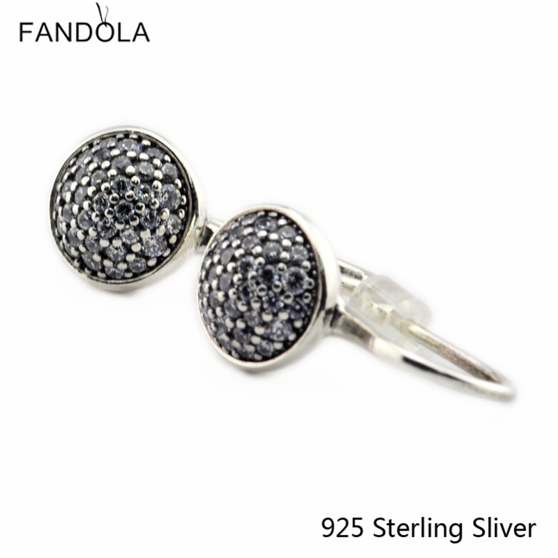 CKK 925 Sterling Silber Dazzling Droplets Ohrstecker Für Frauen - Edlen Schmuck - Foto 1