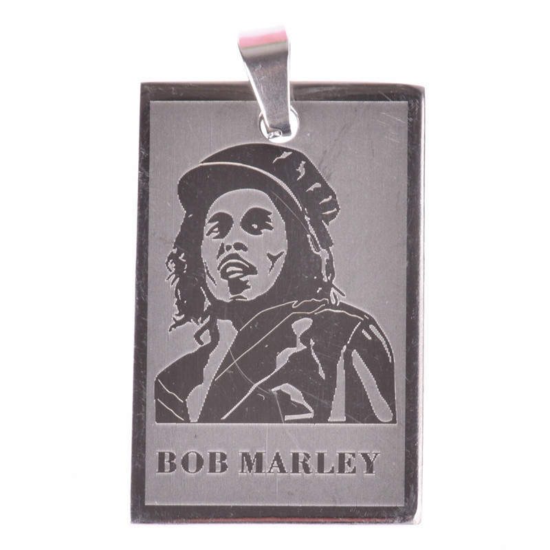 Silver Red Che Guevara Pendant 2018 Trendy Stainless Steel Round Dog Tag Pendants Jewelry Making Fashion Bob Marley Pendant BD11