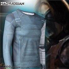 2017Hot!3D Marvel Captain America compression tights men quick dry long sleeve t shirt men fitness