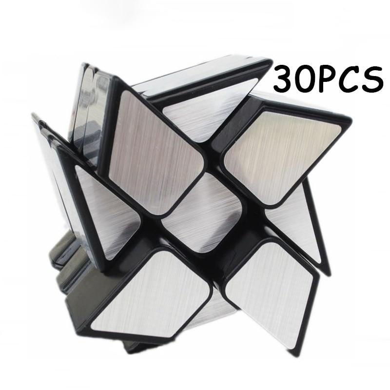 30 PCS MoYu Argent Miroir Magique cube Étrange-forme Cubo magico Professionnel Vitesse Twist Puzzle Cube Neo Cube Jouets pour Enfants