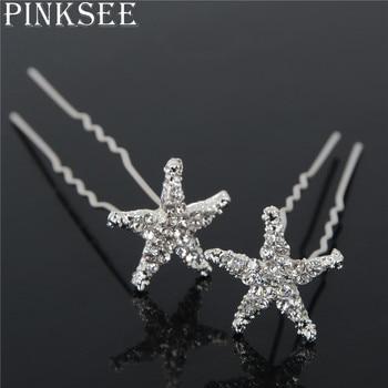 Crystal Star Hair Clips Bridal Wedding Accessories