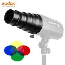 Godox SN 02 Conical Snoot Honeycomb Grid Light Beam Tube for Universal Mount Studio Strobe Flash K 150 K 180 250SDI 300SDI