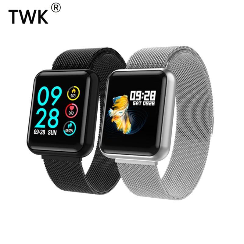 TWK 2019 Hommes de montre connectée montres femmes moniteur de fréquence cardiaque Sang Pression bracelet de fitness pk bracelet d'apple watch erkek kol saati