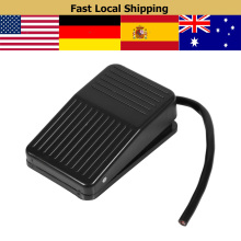 Electric Power Foot Pedal Switch Nonslip Metal Momentary Self-rest Push Button Switch w/ 10cm / 3.9inch On/Off Pedal Tool short men wallets 100