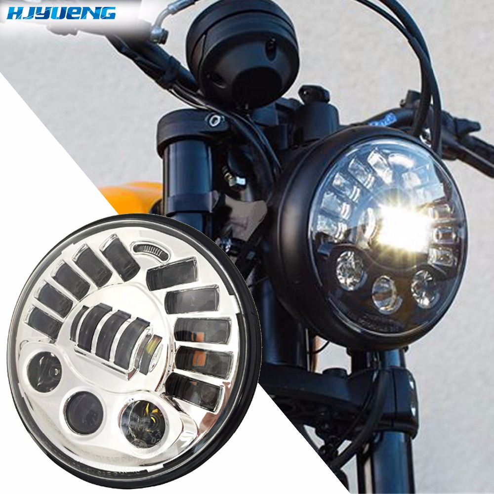 80w 7For BMW R NineT R9T Led Headlight for Harley Motorcycle with amber Left turn signal and right signal and parking light