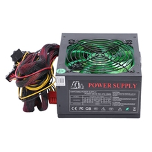 170-260V Max 600W Power Supply Psu 12Cm Pfc Silent Fan 24Pin 12V Pc Computer Sata Gaming Pc Power Supply For Intel Amd Compute