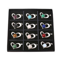 12pc New Arrivals Hot Fashion Crystal Peach Heart Pendant Necklaces For Women Jewelry