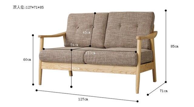 Sofas De Salon Muebles Para El Hogar Madera Maciza Tela Sofa De - Sofas-de-madera