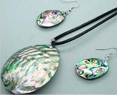 Oval Abalone Shell & Silver Pendant CYhDXSVWD