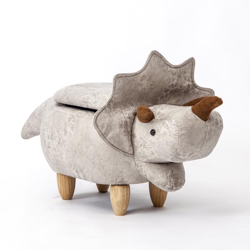 Transporté d'urgence Aucun Nouveau Pouf Poire Taburetes Chaise Tabourets En Bois Chaussures Hippopotame dinosaure Designer Meubles Canapé De Stockage Contenant Moderne