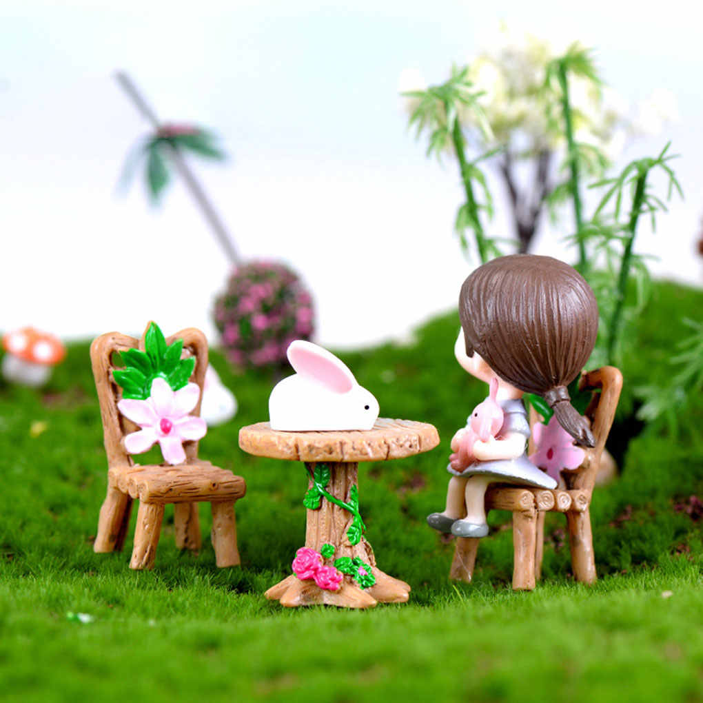 Detail Feedback Questions About 3pcs Table Chair Resin Craft Micro
