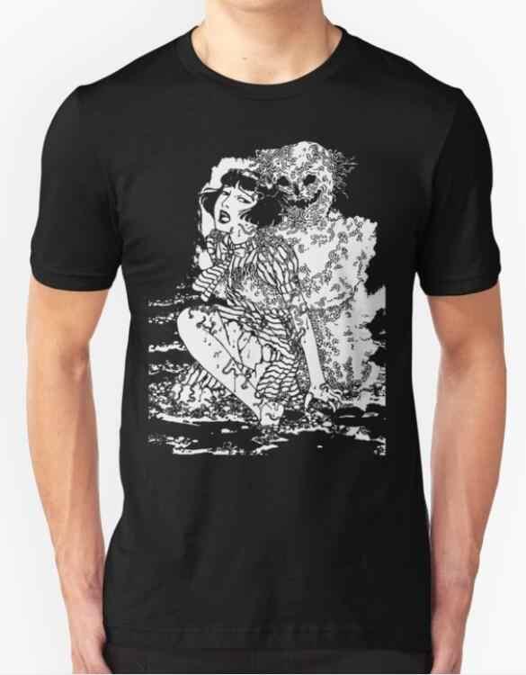 675cafffc3f 2019 New Fashion Brand Clothing Suehiro Maruo Worm Ghost Uzumaki Junji Ito  Japanese Horror Manga Men s