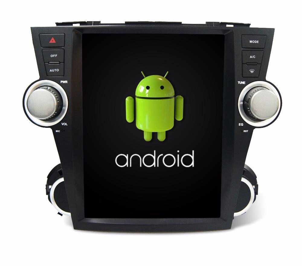 Otojeta vertical écran tesla quad core 32 gb ROM rockchip px3 android 7.1 Voiture Multimédia Lecteur Radio pour Toyota Highlander 2008