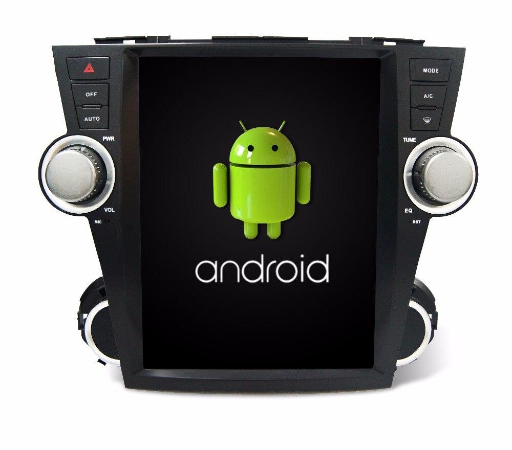 Otojeta verticale dello schermo tesla quad core 32 gb ROM rockchip px3 android 7.1 Car Multimedia Lettore Radio per Toyota Highlander 2008