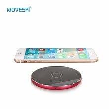 Moveski N9 индуктивной быстро Беспроводной Зарядное устройство станция площадку сертификацией Qi для iphone 8 8 плюс iphonex Samsung Galaxy Note 8 -3 вида цветов