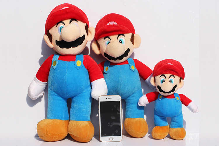 2pcs/lot Size 25, 35, 40CM Super Mario Bros Stand MARIO LUIGI Plush Toy Soft Stuffed Plush Toys Doll Cartoon Gifts Free Shipping