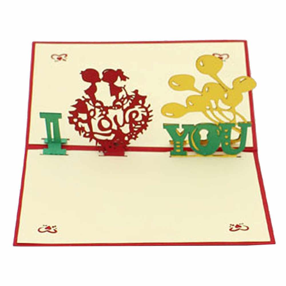 Segnaposto Matrimonio Aliexpress.Vogue 3d Pop Up Wedding Cards Valentine Lover Happy Birthday